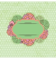 Vintage frame on floral background vector image