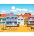 wild west houses vector image