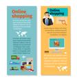 online shopping vertical flyers design vector image
