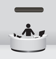 Administrator Receptionist vector image