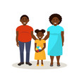 afro american black family in casual clothing vector image vector image