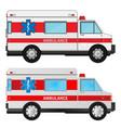 ambulance cars vector image vector image
