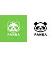 baby panda logo icon vector image