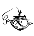 black fisherman vector image