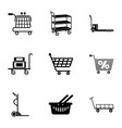 carry the goods icons set simple style vector image