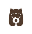 cat donuts negative space logo icon vector image vector image