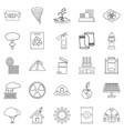 catastrophic event icons set outline style vector image vector image