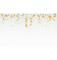 celebration banner with gold confetti vector image vector image