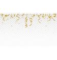 celebration banner with gold confetti