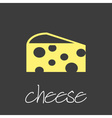 cheese icon design banner and background eps10 vector image