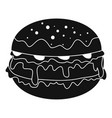 cheeseburger icon simple style vector image vector image
