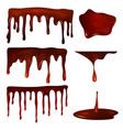 chocolate drops or melted choco fondant set vector image vector image