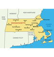 Commonwealth of Massachusetts - map vector image