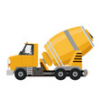 concrete mixer yellow truck with special vector image vector image