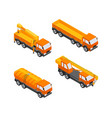 construction vehicles - modern isometric vector image vector image