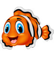 cute clown fish cartoon posing vector image vector image