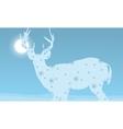 Deer winter Christmas holiday vector image