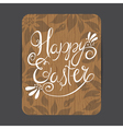 easter wooden greeting card vector image vector image