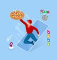 ecommerce concept order food online website fast vector image
