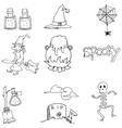Element Halloween flat doodle vector image vector image