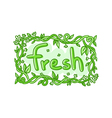 Fresh doodle decorative label vector image vector image