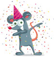 funny party mouse dabbing vector image
