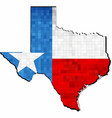 grunge texas map with flag inside vector image