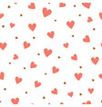 heart seamless pattern valentines day and wedding vector image vector image
