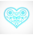 heart shape ornament for valentines day vector image vector image