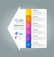 Infographic design business concept with 6 options
