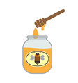 Jar With Honey vector image vector image