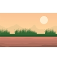Landscape mountain and grass at morning vector image vector image