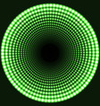 led mirror abstract round background green vector image