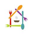 Logo for a restaurant vector image vector image