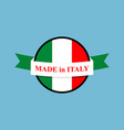 made in italy logo italian production sign emblem vector image vector image