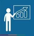 man standing presentation chart icon design vector image vector image