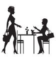 meeting in a cafe vector image vector image