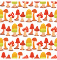 mushrooms fungus agaric toadstool different art vector image vector image