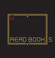 outline open book with bookmark border vector image