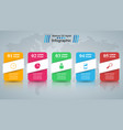 paper business infographic five items vector image