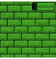 realistic seamless texture green brick wall vector image vector image