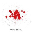 red colour splashes vector image vector image