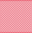 red gingham pattern vector image vector image