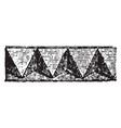 romanesque motive cord vintage engraving vector image vector image