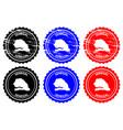 senegal rubber stamp vector image vector image