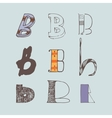 set of colorful alphabet letters B vector image vector image