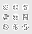 set of good luck line icons vector image vector image