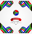 south africa independence day design template vector image vector image