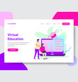 student with online education vector image
