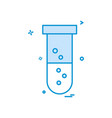 test tube icon design vector image vector image